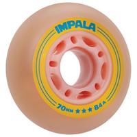 Impala Rollerskates -  Inline Outdoor Roller Skate Wheels (4pk, Pink/Yellow)