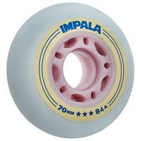 Impala Rollerskates -  Inline Outdoor Roller Skate Wheels (4pk, Sky Blue/Yellow)