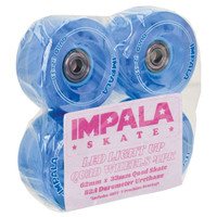 Impala Rollerskates - Outdoor Roller Skate Wheels - Light Up (Blue)