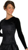 Jerry's 388 Long Sleeves Black Twinkle Top (Size AL)