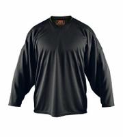 Flow Hockey Jersey - Solid Practice Jersey (15% OFF, Black, Senior X-Large)