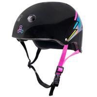 Triple Eight THE Certified Sweatsaver Roller Skating Helmet - Black Lightning Hologram