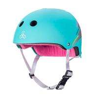 Triple Eight THE Certified Sweatsaver Roller Skating Helmet - Teal Hologram