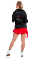 Elite Xpression - Black Born to Skate Jacket - Crystal and Red Crystal