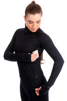 Elite Xpression - Black Tech Jacket with Thumb Slit