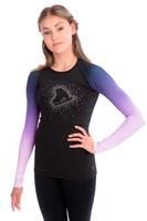 Elite Xpression - Faded Pastel Sprinkle Skate Top - Lilac