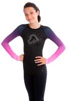 Elite Xpression - Faded Pastel Sprinkle Skate Top - Pink