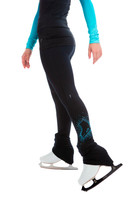Elite Xpression - High Waist Pastel Sprinkle Skate Legging - Blue