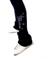 Elite Xpression - High Waist Skate Like a Star Legging - Purple