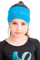 Elite Xpression - LOVE TO SKATE Headband Blue