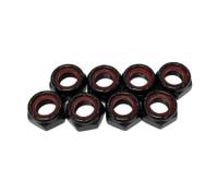 Powerdyne Roller Skate Axle Lock Nuts Black  - Set of 8
