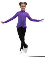 IceDress Figure Skating Outfit - Thermal - Minx (Purple,Turquoise, Black)