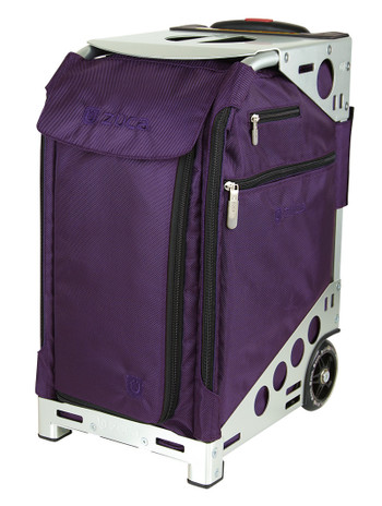 Zuca Artist Pro Bag - Purple Insert And Silver Frame 2nd view