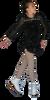ChloeNoel DLV603 Sparkle Black - Long Sleeve Velvet Dress with Mesh