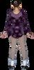 ChloeNoel DLV675 Firework/Eggplant - Sparkle A-line Velvet Dress w/ Mesh 3rd view