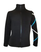 Criss Cross Fleece Ice Skating Jacket  Silver/Turquoise XJ411