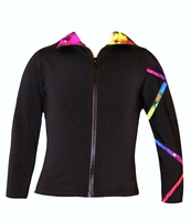 Criss Cross Poly/Spandex Rainbow Ice Skating Jacket  XJ121