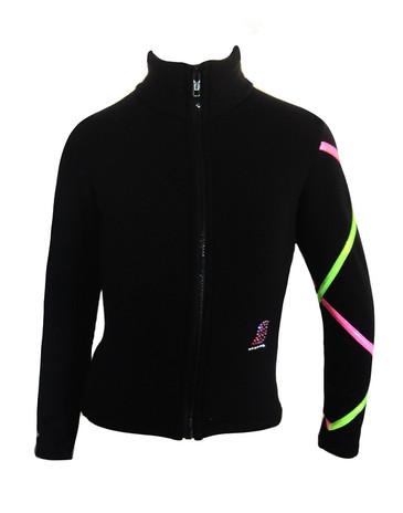 Criss Cross Fleece Ice Skating Jacket  Pink/ Lime XJ711