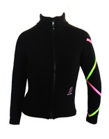 Criss Cross Fleece Ice Skating Jacket  Pink/ Lime XJ711