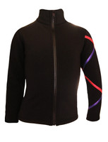 Criss Cross Fleece Ice Skating Jacket  Purple/Fucshia XJ811