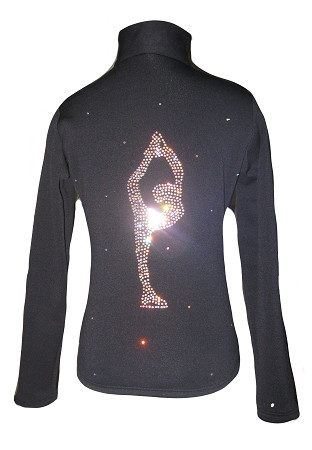 "Ice skating jacket with ""Biellmann"" applique"