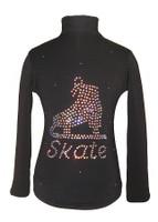 """Black Jacket with """"Skate"""" applique"""