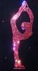 "Black ice Skating Jacket with Pink Crystals ""Bielmann"" rhinestone applique 2nd view"