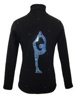 Figure Skating Jacket by Ice Fire - Blue crystals Biellmann applique