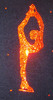 Figure Skating Jacket by Ice Fire - Orange Crystals Biellmann applique 2nd view
