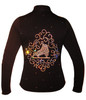 """Black Jacket with """"Skate & Ornament"""" 2nd view"""