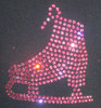 """Black Jacket with """"Pink Skate"""" applique 2nd view"""