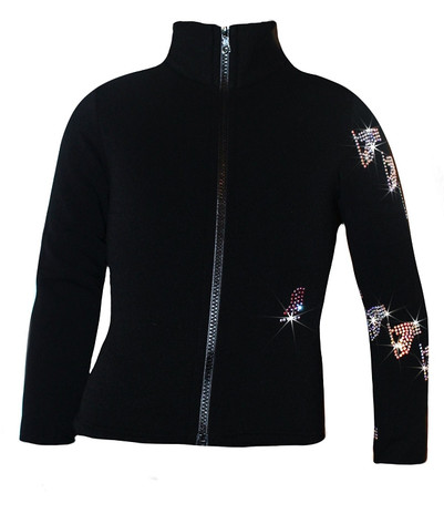 "Ice Skating Jacket with  ""Spiral Skates"" Design"