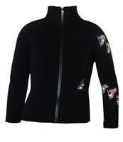 "Ice Skating Jacket with  ""Spiral Skates"" Design"