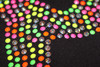 """Ice Skating Pants with """"Neon Biellmann"""" rhinestuds design 2nd view"""