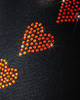 "Ice Skating Pants with  ""Orange Spiral Hearts"" Rhinestones Design 2nd view"