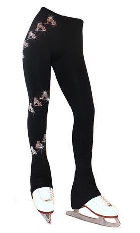"Ice Skating Pants with  "" Spiral Skates"" Rhinestones Design"