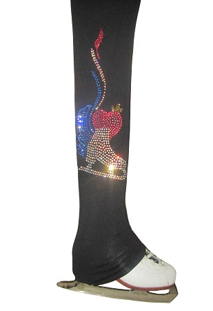 """Ice Skating Pants with """" Skate with wings"""" applique HP232"""