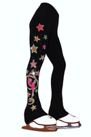 "Ice Skating Pants with ""Biellmann Stars"" Design"