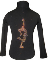 "Ice skating Jacket with ""Layback"" applique"