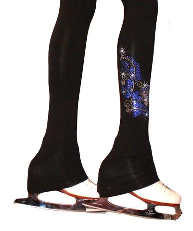 "Venetta ""Floral""  Figure Skating pants Silver/Sapphire"