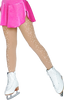 ChloeNoel Footed Ice Skating Tights 8830 with 2Crystals 2nd view