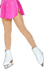 ChloeNoel Footed Ice Skating Tights 8830 with 2Crystals 3rd view