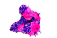 Crazy Fur Soakers - CF17 -Purple Fuzzy Fur with Hot Pink and Purple Crazy Fur