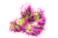 Crazy Fur Soakers - CF09 - Purple, Lime and Hot Pink Crazy Fur