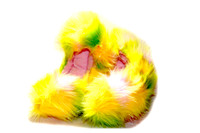 Crazy Fur Soakers - 04GCF - Glitter Crazy Fur - Lime, Pink & Yellow