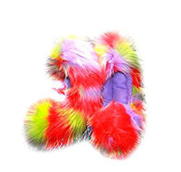 Glitter Crazy Fur Soakers 07GCF - Glitter Crazy Fur - Red, Lavender & Lime