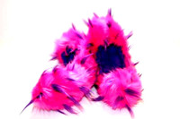 Crazy Fur Soakers CF02 - Hot Pink and Purple Crazy Fur