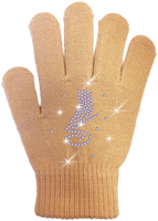 ChloeNoel Ice Skating Gloves - GV22-NU/Skate Crystals
