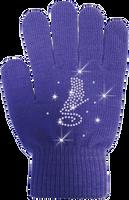 ChloeNoel Ice Skating Gloves - GV22-PR/Skate Crystals