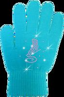 ChloeNoel Ice Skating Gloves - GV22-TQ/Skate Crystals